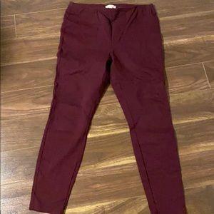 Lauren Conrad burgundy pull on dress pants